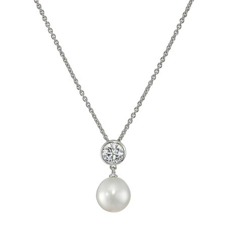 9.5-10 mm Pearl Pendant with Swarovski Zirconia