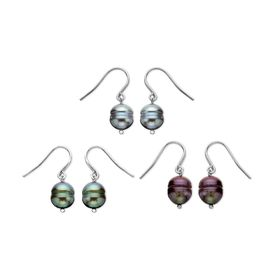 Three Pair Multi-Color Drop Earring Set
