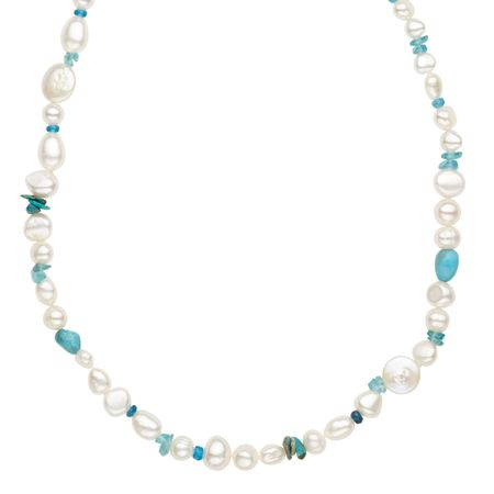 Pearl & Turquoise Strand Necklace