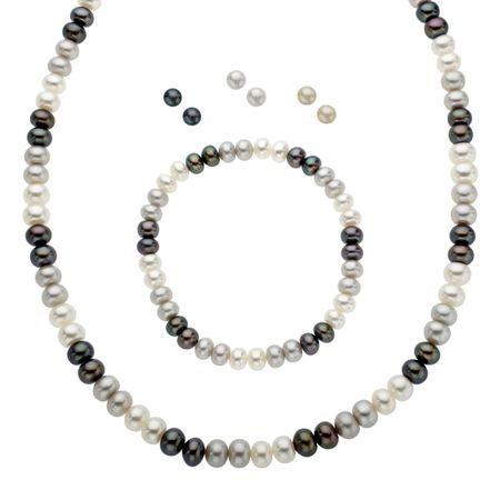 Black, White & Grey Pearl Set