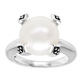 12-12.5 mm Button Pearl Ring