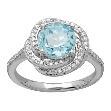 sevilla rings blue sky hsn silver oval ring d topaz products