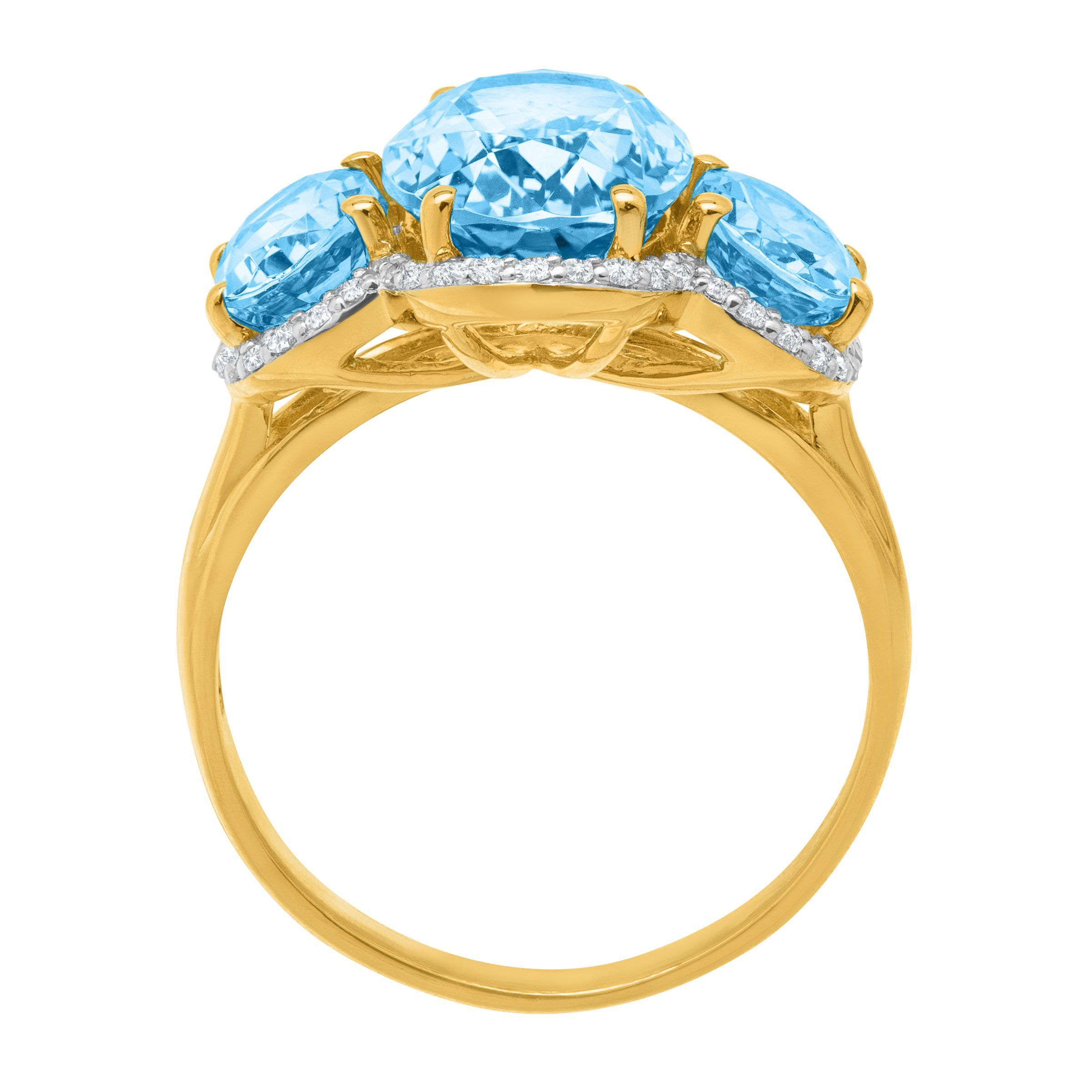 jewelry gold ct diamond blue in and swiss ring natural topaz