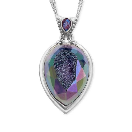 Sajen snow druzy pendant in sterling silver snow druzy pendant snow druzy pendant aloadofball Image collections