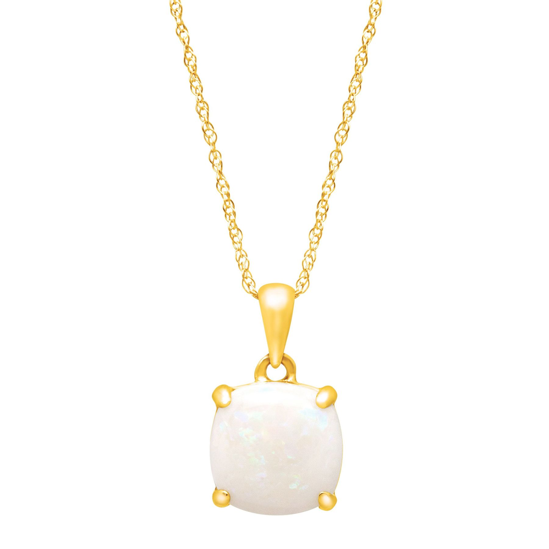 diamond colore pendant in gold oro tw cushion blue and cut white topaz