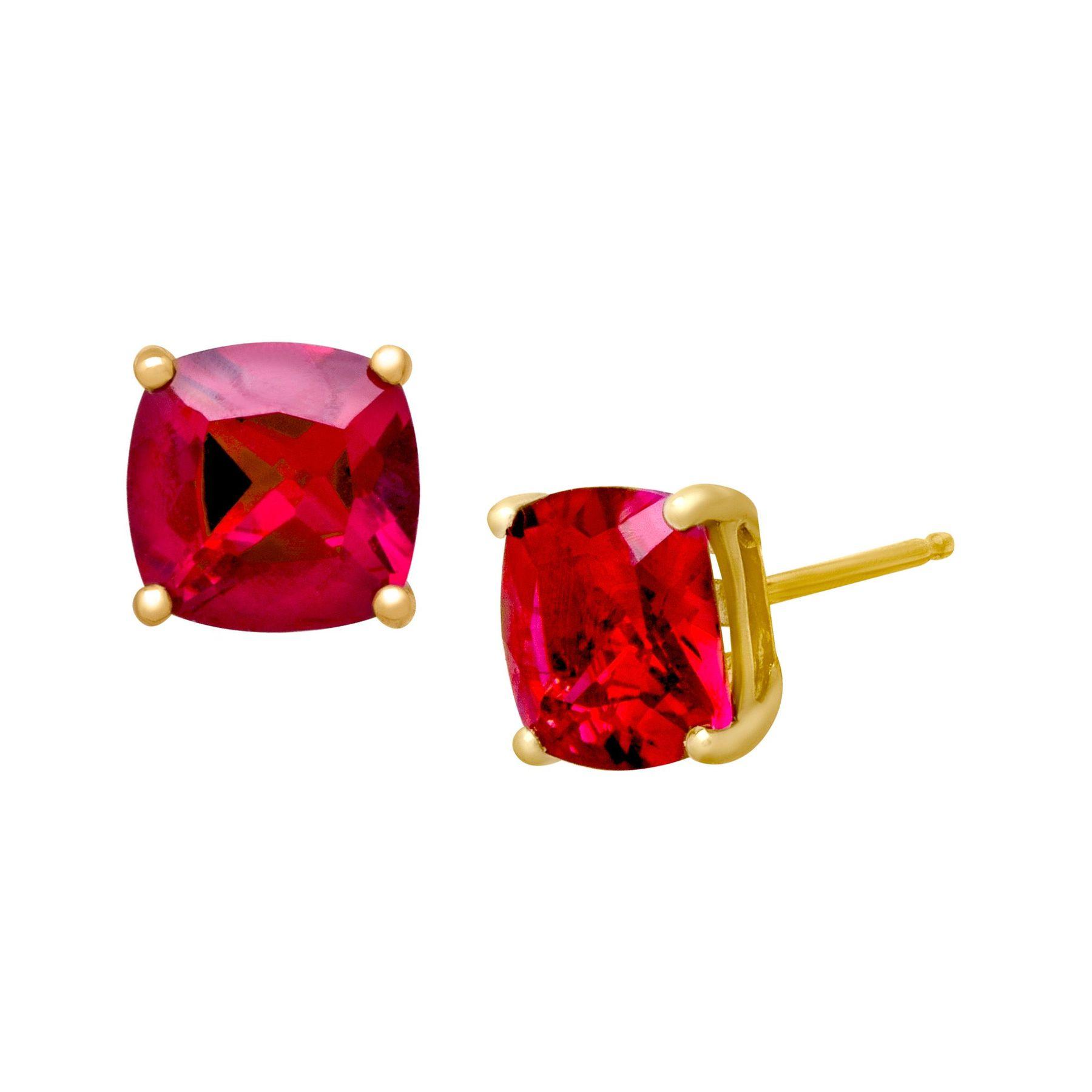 3 5 8 Ct Ruby Stud Earrings