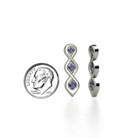 Triple Twist Earrings