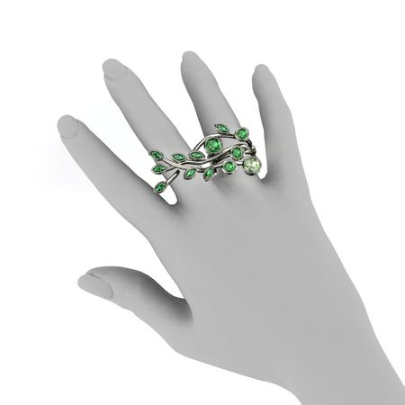 Three-Finger Vine Ring