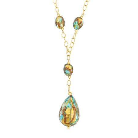 Murano Glass Drop Necklace