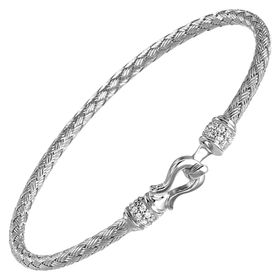Harpo Woven Hook Bracelet With Cubic Zirconia