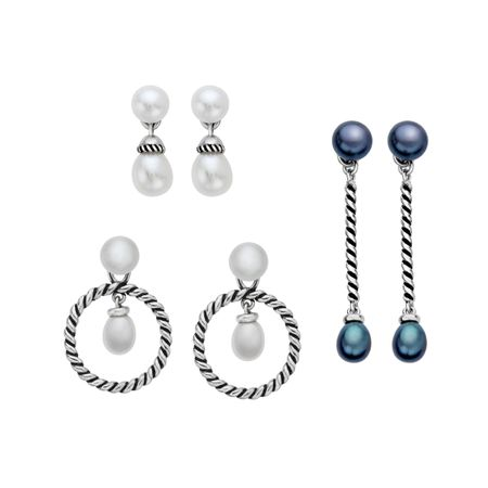 Mix & Match Pearl Drop Earrings