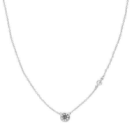 Silpada Marvel Circular Cubic Zirconia Station Necklace