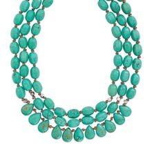 Silpada 'Drops of the Ocean' Sterling Silver and Howlite Three-Strand Cord Necklace, 18+2
