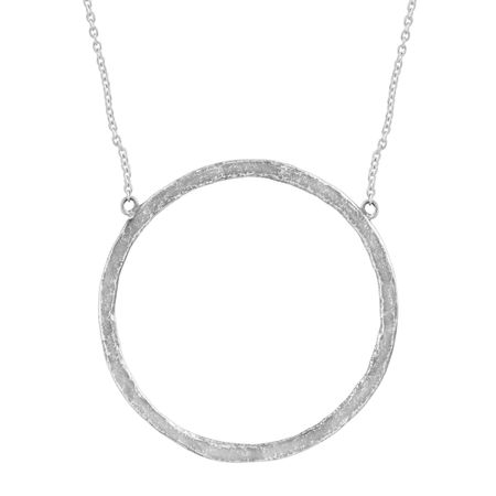 488e913d6ad38 Silpada 'Duomo' Open Circle Necklace in Hammered Sterling Silver