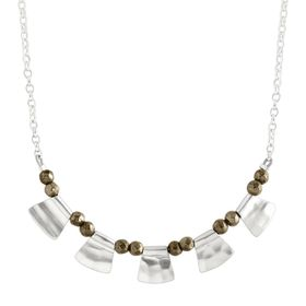 Patterned Pyrite Necklace
