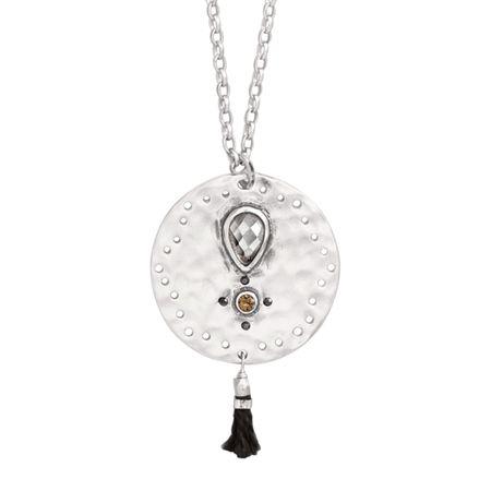 Silpada tassel fringe cut out pendant in sterling silver with tassel fringe pendant aloadofball Images