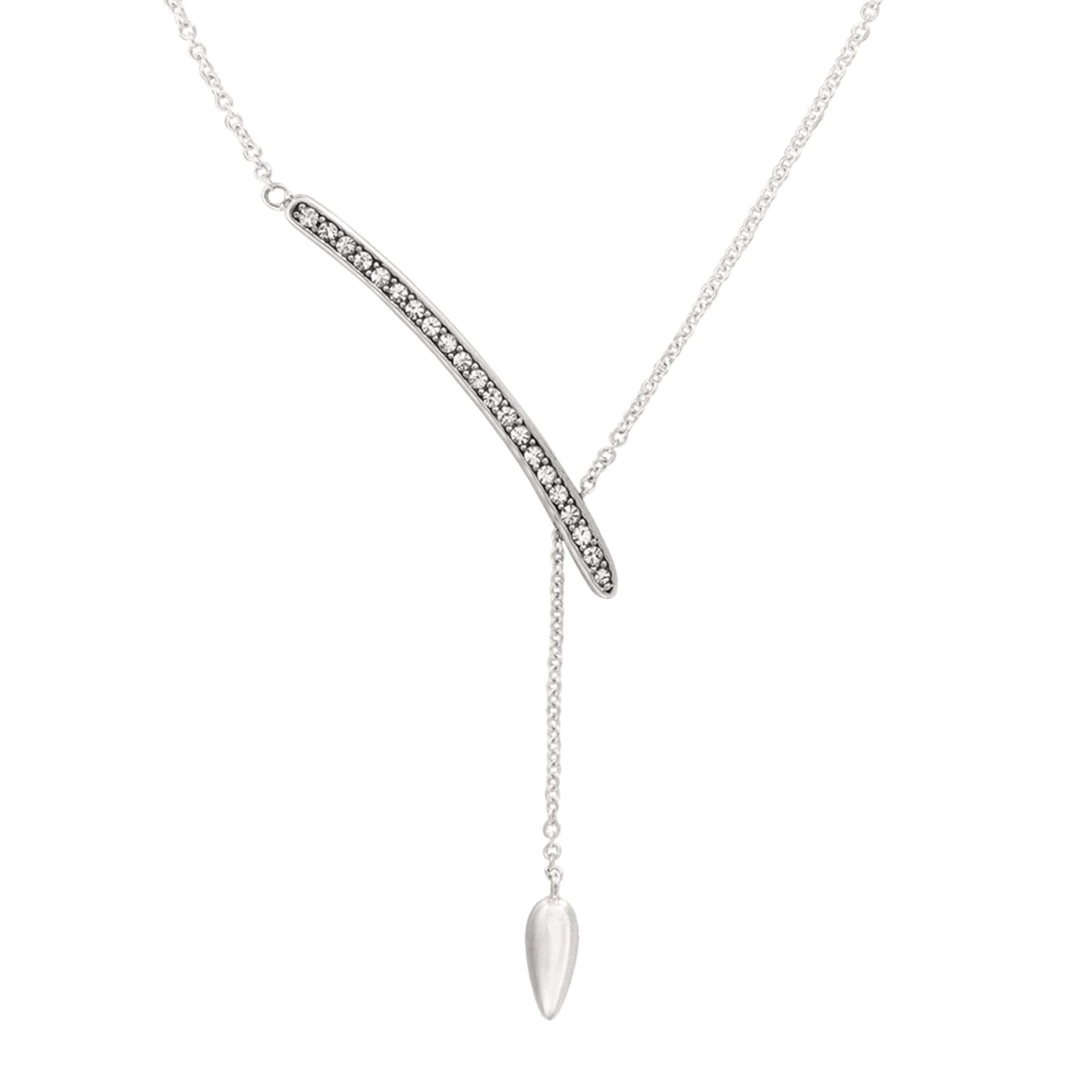 Silpada Crystal Y Necklace With
