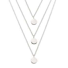 Descending Disc Necklace