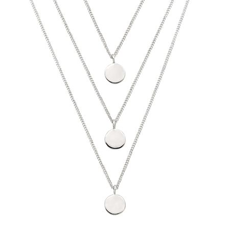 Silpada descending disc layered necklace in sterling silver descending disc necklace aloadofball Images