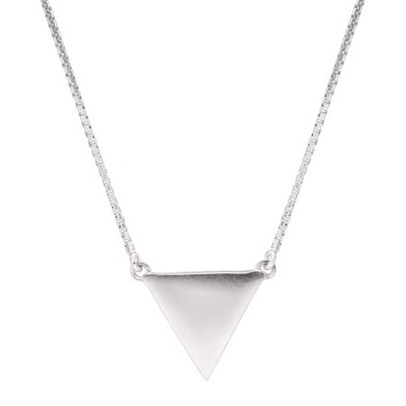 pendant necklace gold product black triangle