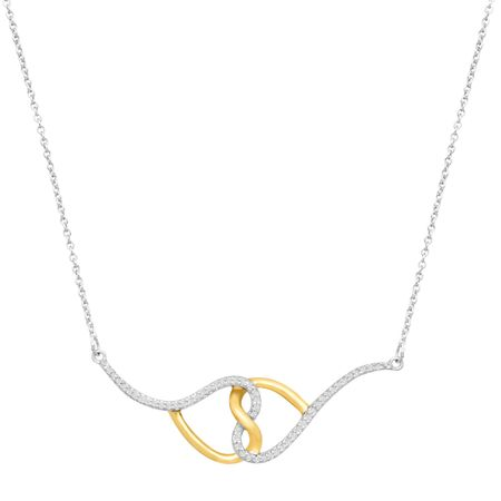 1/3 ct Diamond Double Heart Necklace