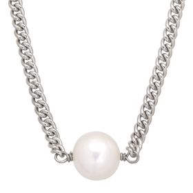Chained Up Pearl Choker Necklace