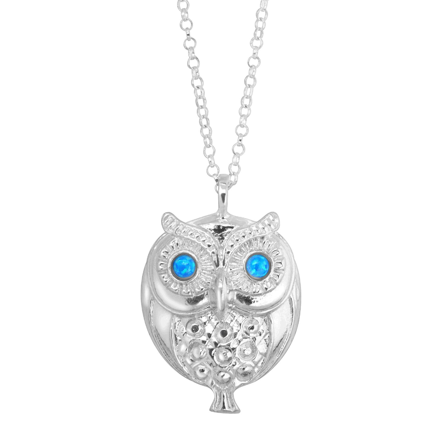 pendant claire s owl enamel necklace us small