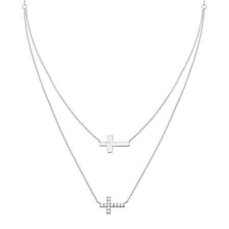 Duplex Cross Necklace