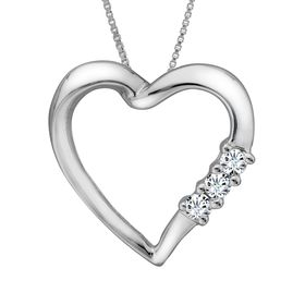 1/10 ct Diamond Heart Pendant