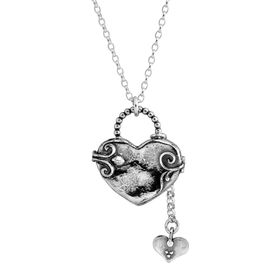 Engraved Heart Locket Pendant