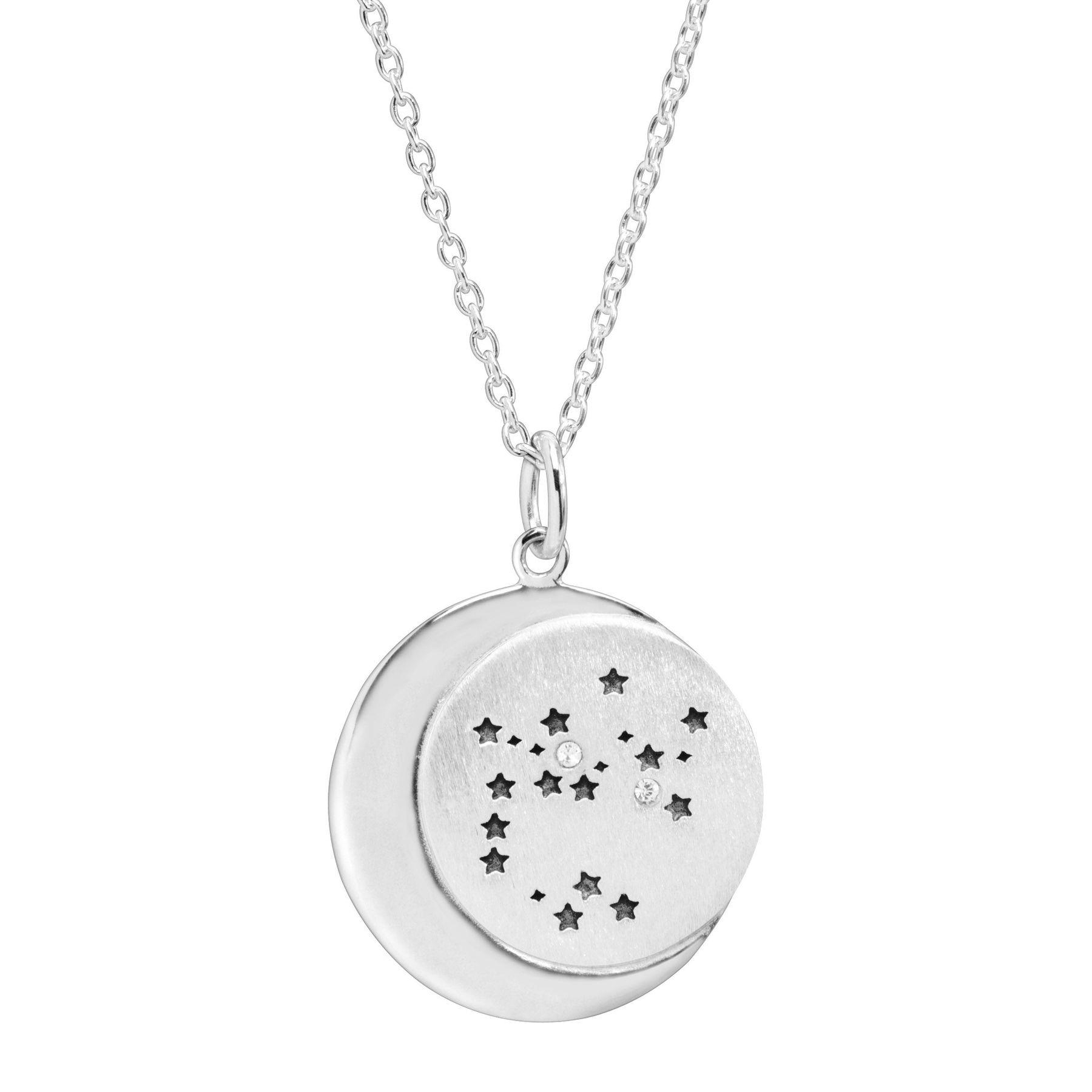 Silpada 'Sagittarius' Constellation Pendant with White Swarovski Crystals  in Sterling Silver, 18