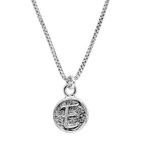 Stamped 'E' Initial Pendant