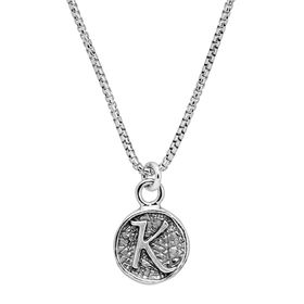 Stamped 'K' Initial Pendant