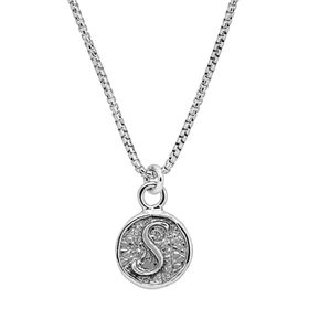 Stamped 'S' Initial Pendant