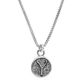 Stamped 'Y' Initial Pendant