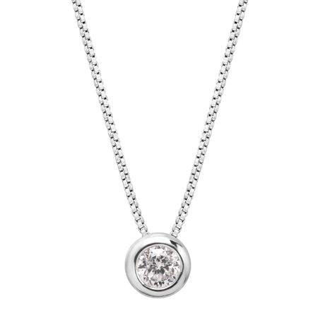 1/5 ct Lucky 88-Facet Diamond Solitaire Pendant