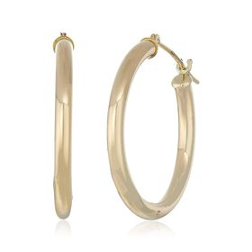 23 mm Classic Tube Hoop Earrings, Yellow