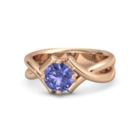 Round Tanzanite 14K Rose Gold Ring