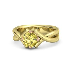 Round Yellow Sapphire 14K Yellow Gold Ring