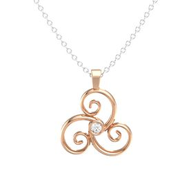 Round Rock Crystal 18K Rose Gold Necklace