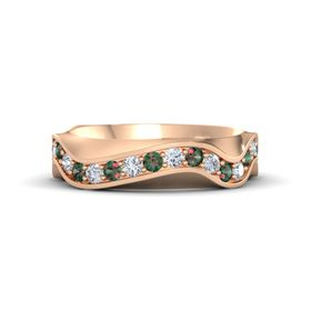 18K Rose Gold Ring with Alexandrite and Diamond