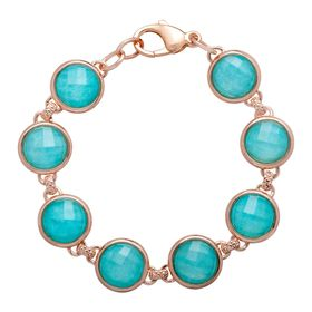 27 ct Quartz & Amazonite Bracelet