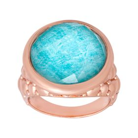10 ct Quartz & Amazonite Ring