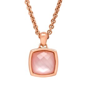 8 3/8 ct Rose Quartz Cushion Pendant