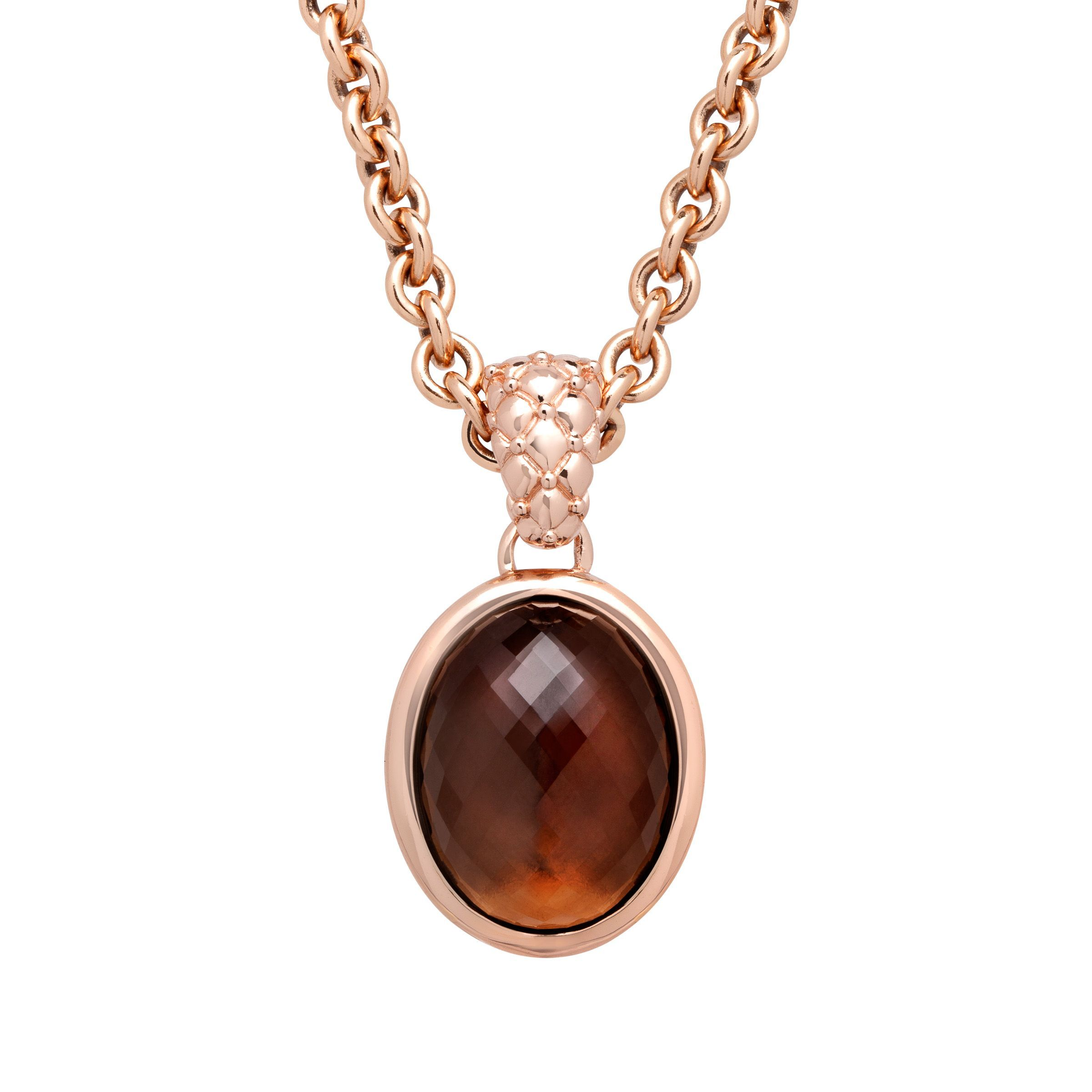 22 ct smoky quartz pendant in 18k rose gold plated bronze 22 ct smoky quartz pendant in 18k rose gold plated bronze aloadofball Image collections