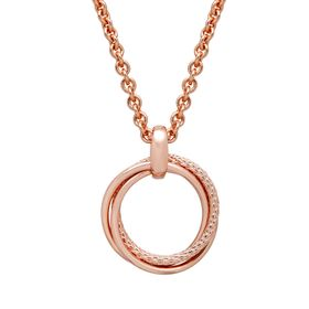 Entwined Open Circle Pendant