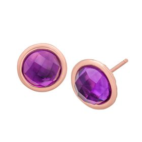 2 3/4 ct Amethyst Stud Earrings