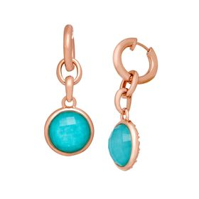 11 ct Quartz & Amazonite Drop Earrings