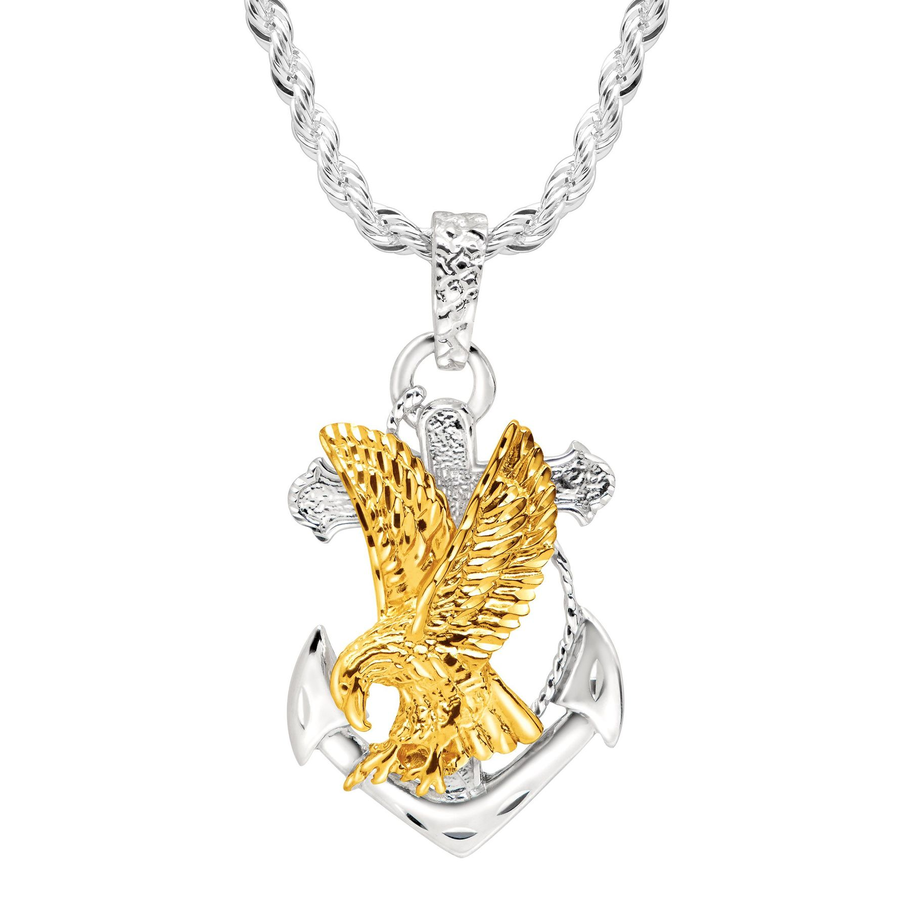 patriotic fine amazon gold jewelry polish com eagle charm pendant yellow dp