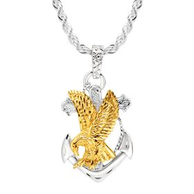 Men's Eagle on Anchor Pendant